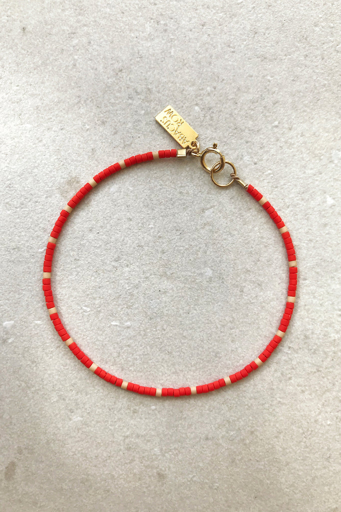 Capay Bracelet, Blush/Red - Archive