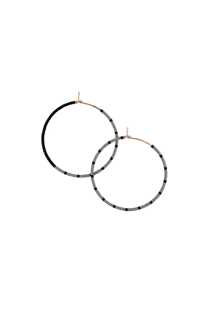 Loma Earrings, Fog/Black, Large - Archive