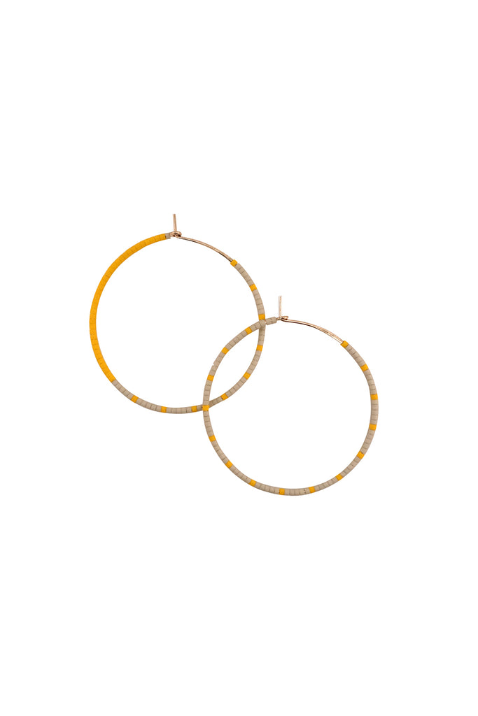 Loma Earrings, Wool/Yellow, Large - Archive