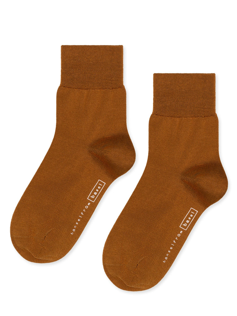 Hansel from Basel Trouser Crew Socks Ochre Ocher