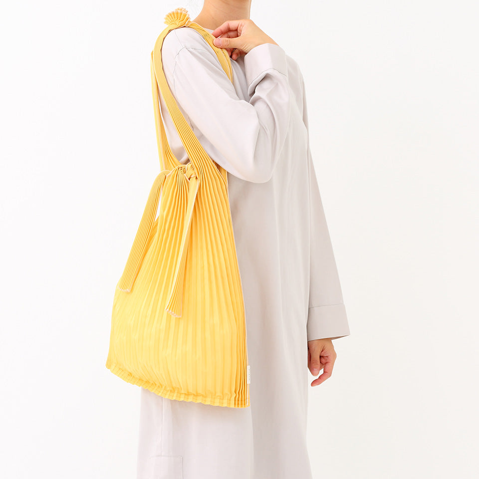 Pleated Pleco Tote Bag by KNA Plus