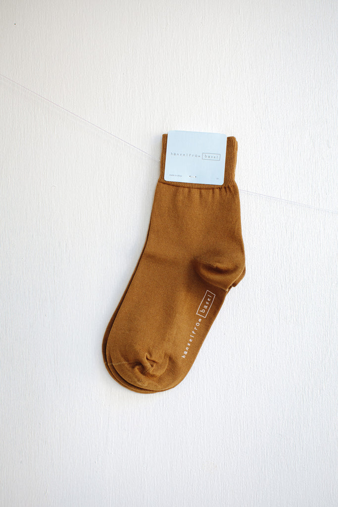 Hansel from Basel Trouser Crew Socks - Ochre