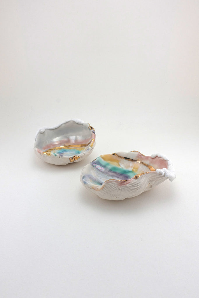 Minh Singer Prism Dish with Gold and Luster Mini Pair