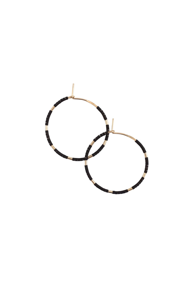 Callisto Hoops in Ink by Abacus Row Handmade Jewelry