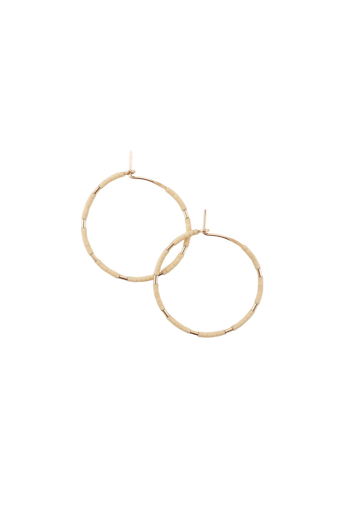 Callisto Hoops in Oyster by Abacus Row Handmade Jewelry
