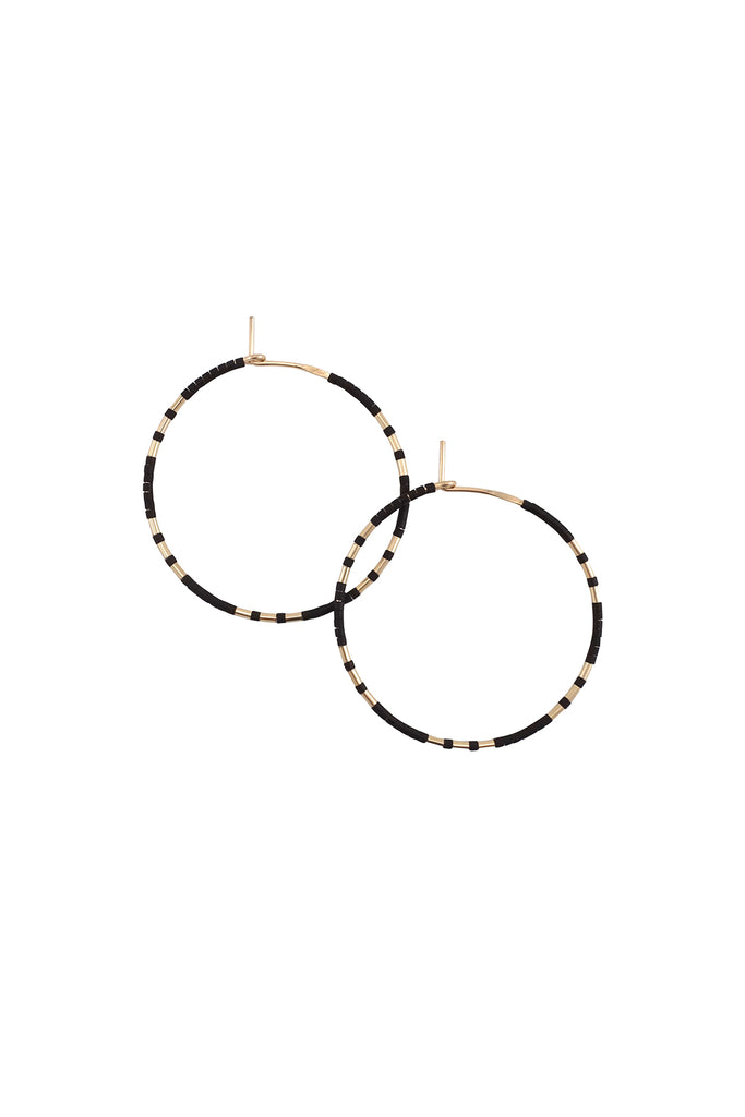 Chaldene Hoops in Ink by Abacus Row Handmade Jewelry
