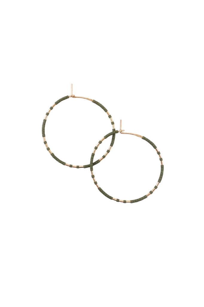 Chaldene Hoops in Palm by Abacus Row Handmade Jewelry