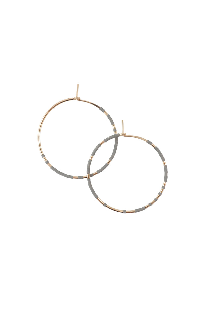 Pan Hoops, Rain - Abacus Row Handmade Jewelry
