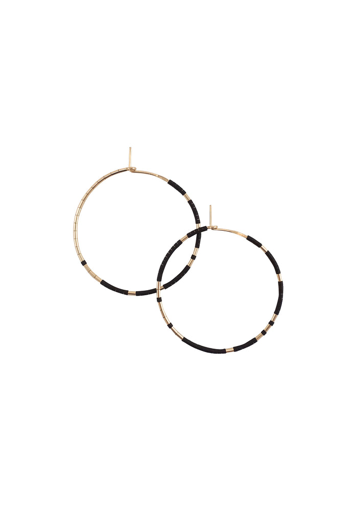 Pan Hoops in Ink by Abacus Row Handmade Jewelry