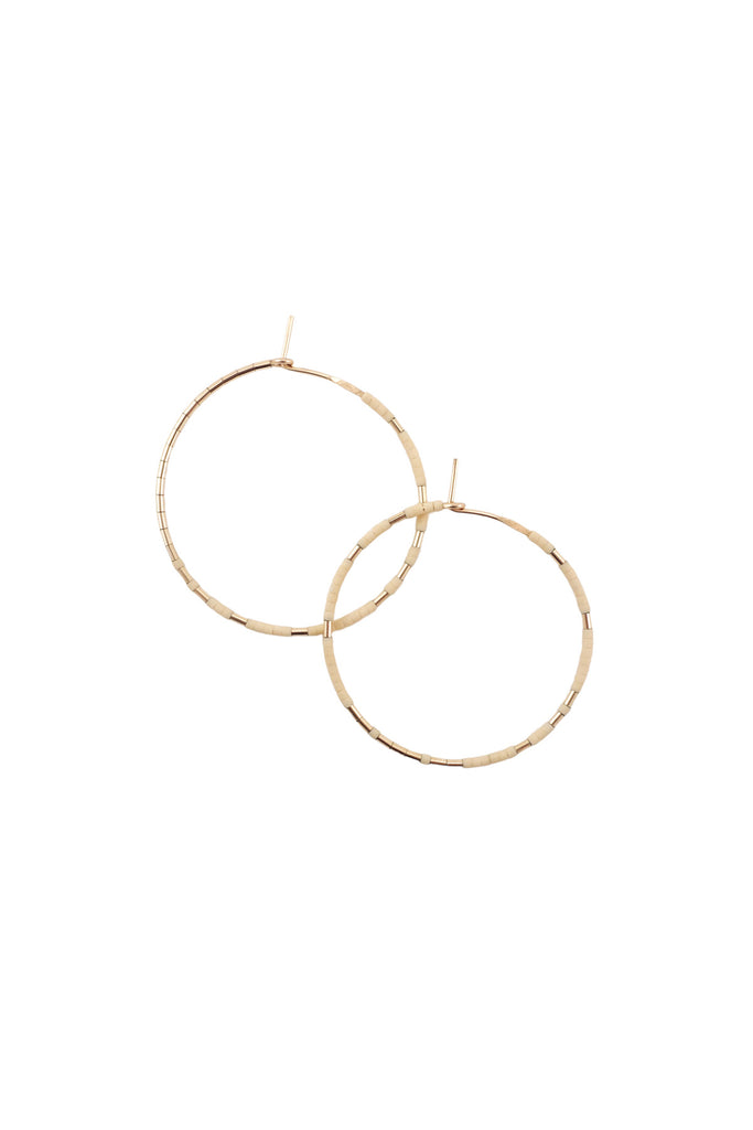 Pan Hoops in Oyster by Abacus Row Handmade Jewelry