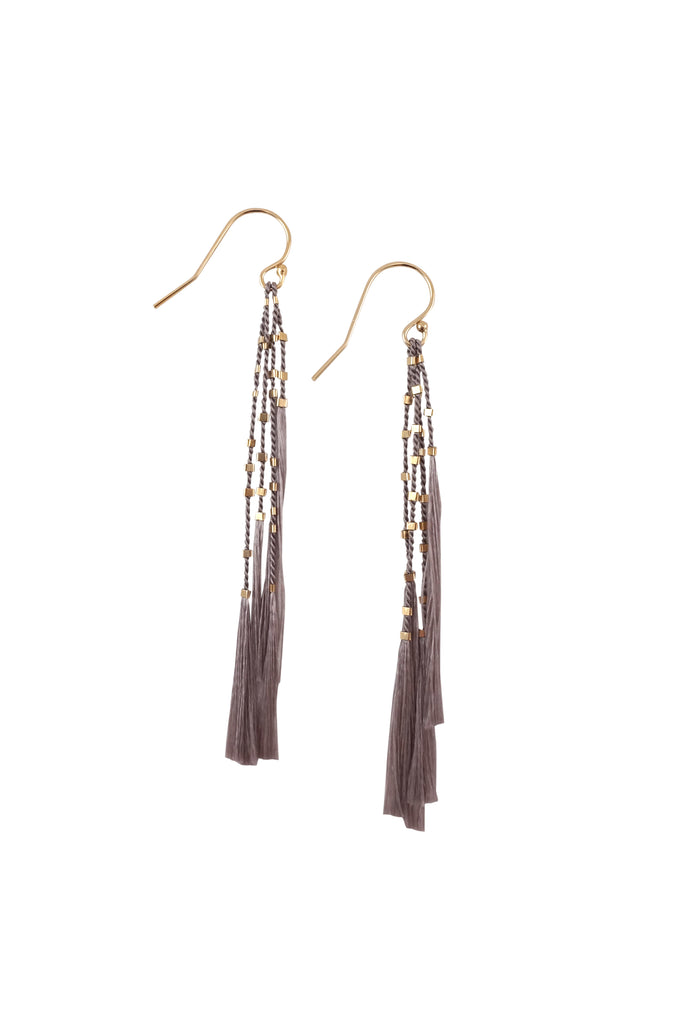 Lala Earrings, grey - Abacus Row Handmade Jewelry