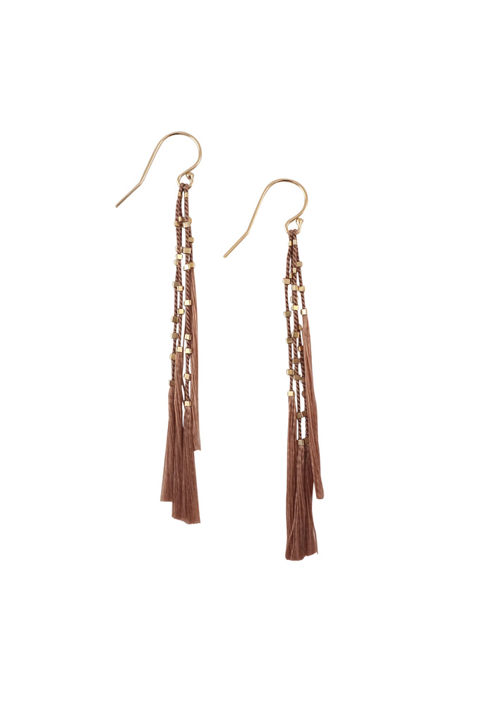 Lala Earrings, fawn - Abacus Row Handmade Jewelry