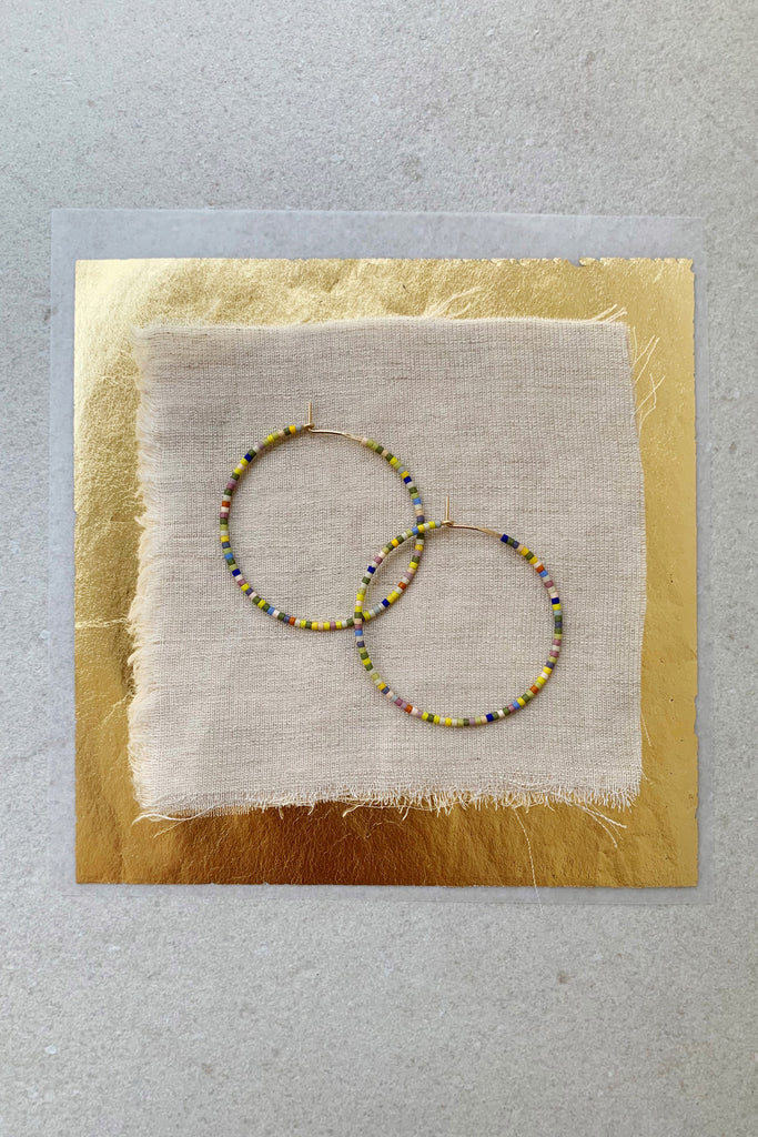 Letting Go Hoops, Perennial - Large - Abacus Row Handmade Jewelry