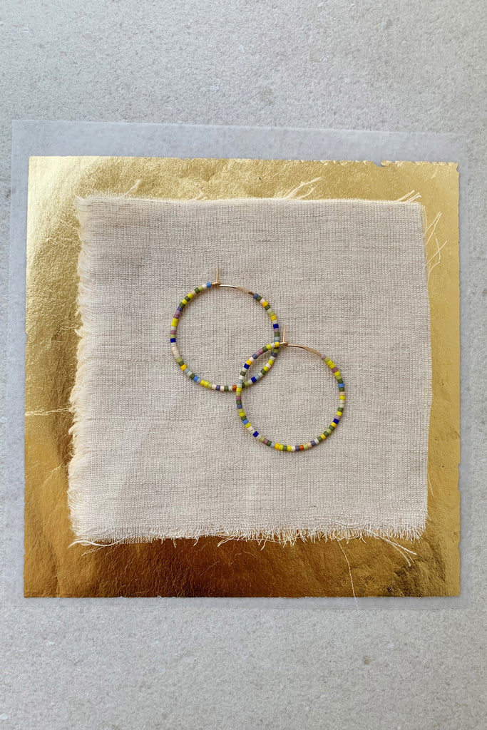 Letting Go Hoops, Perennial - Small - Abacus Row Handmade Jewelry