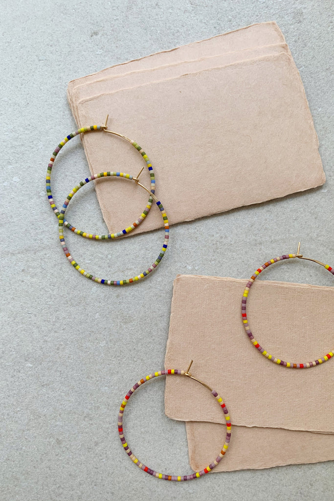 Letting Go Hoops - Large - Abacus Row Handmade Jewelry