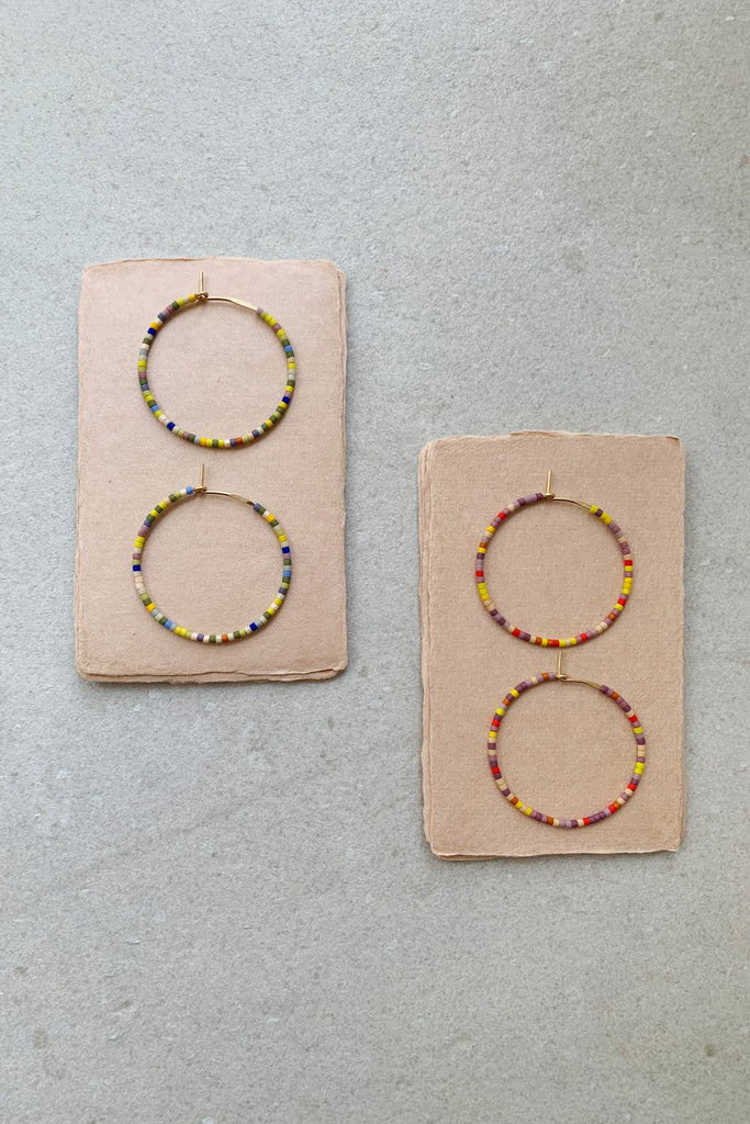 Letting Go Hoops - Small - Abacus Row Handmade Jewelry