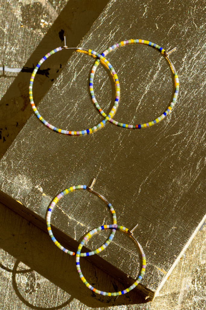 Letting Go Hoops, Perennial - Abacus Row Handmade Jewelry