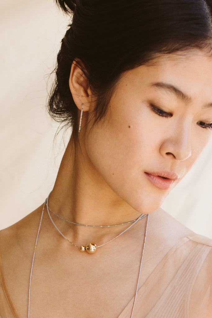 Selene on Model - Abacus Row Handmade Jewelry