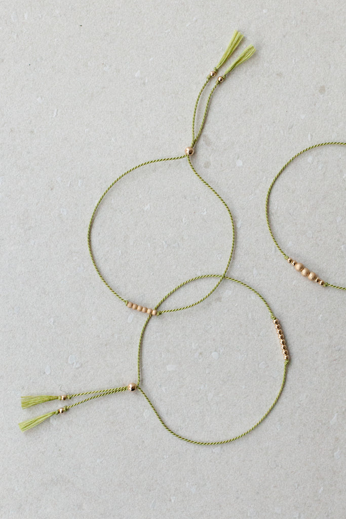 Pear Friendship Bracelets by Abacus Row Handmade Jewelry