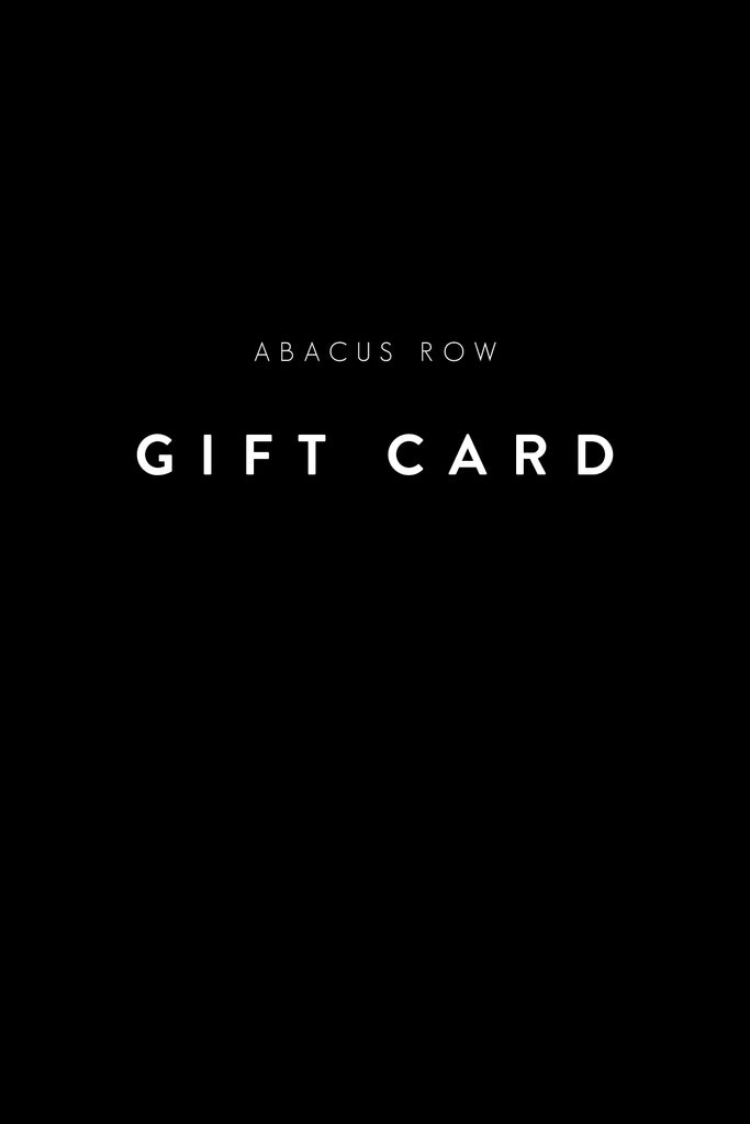 Abacus Row Gift Card – Digital