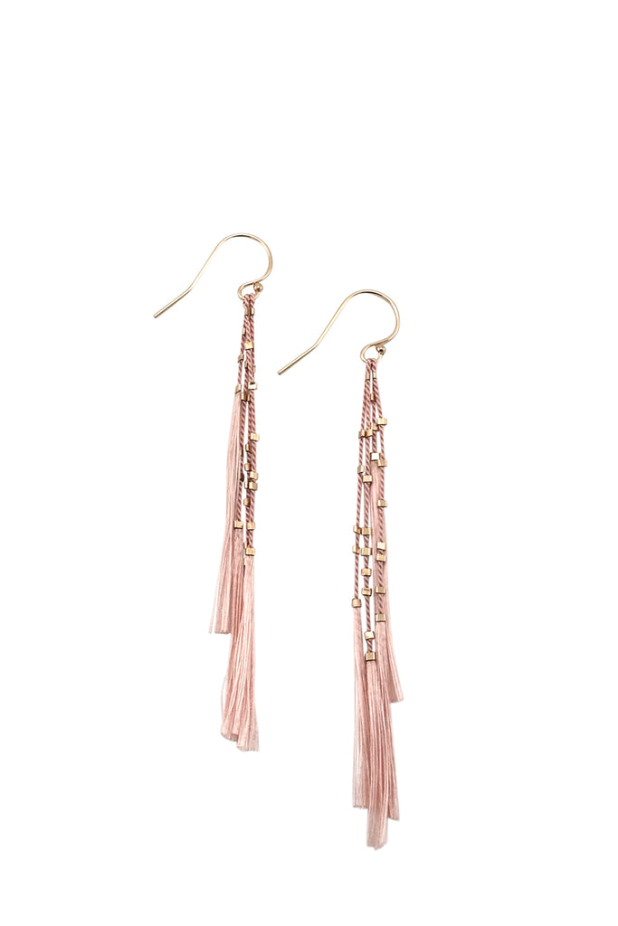 Lala Earrings, blush - Abacus Row Handmade Jewelry