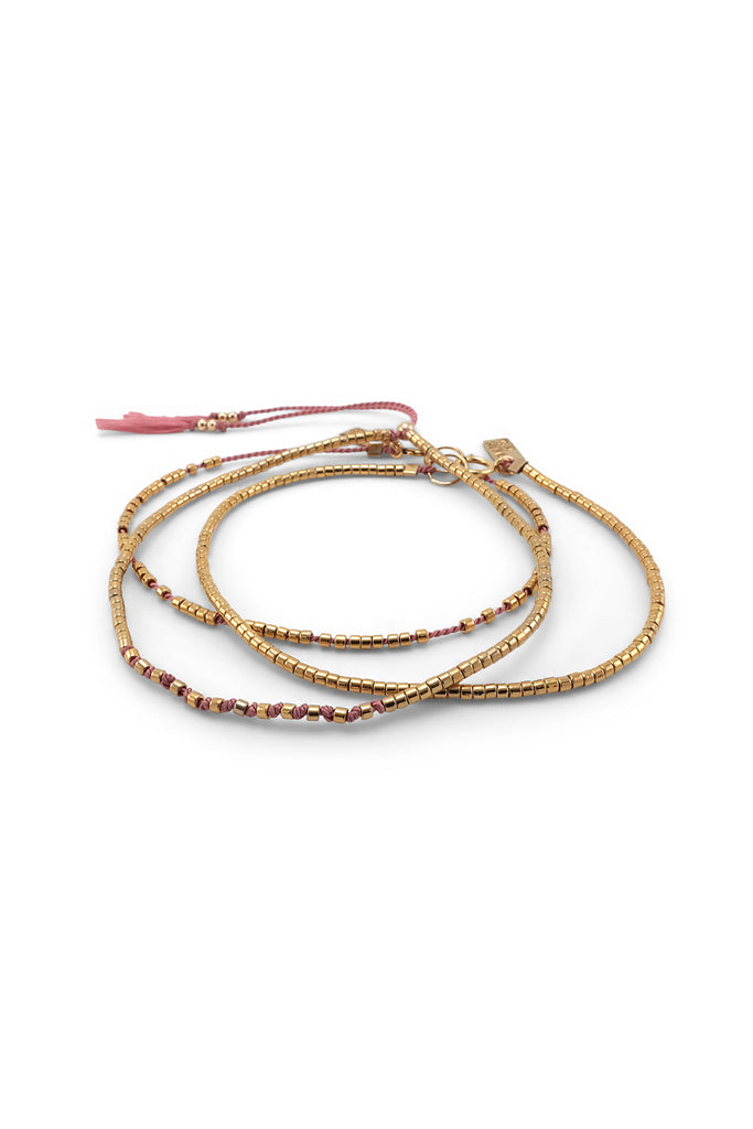 Osiris Bracelets, Set of 3, Peony - Archive