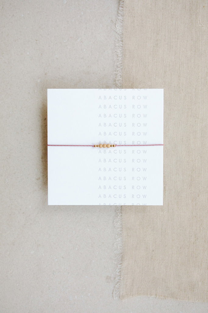 Peony Friendship Bracelet No.1 by Abacus Row Handmade Jewelry