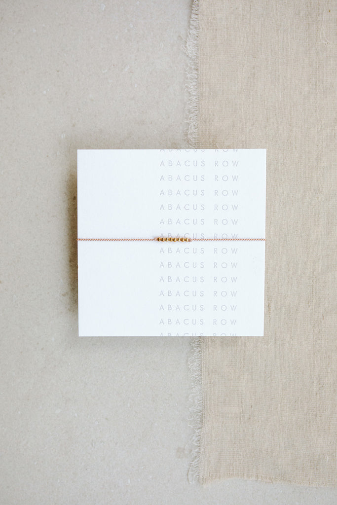 Blush Friendship Bracelet No.3 by Abacus Row Handmade Jewelry