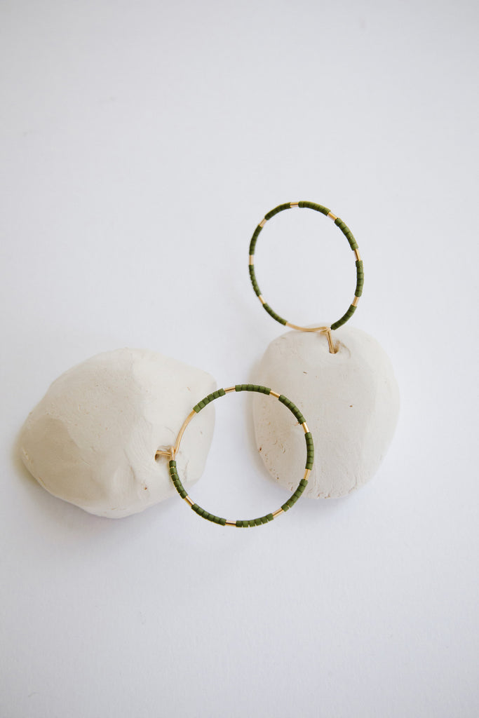 Callisto Hoops in Palm by Abacus Row Handmade Jewelry