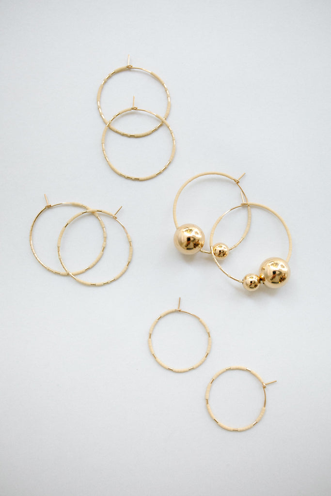 Earring Hoops Oyster by Abacus Row Handmade Jewelry
