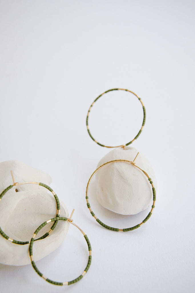Hoops in Palm by Abacus Row Handmade Jewelry