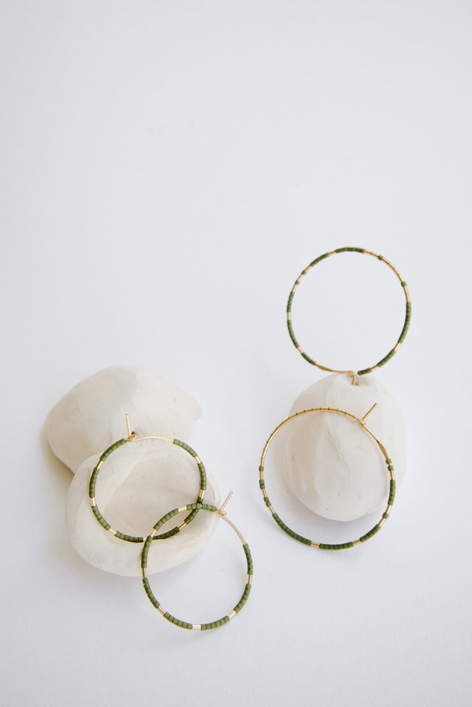 Earring Hoops in Palm by Abacus Row Handmade Jewelry