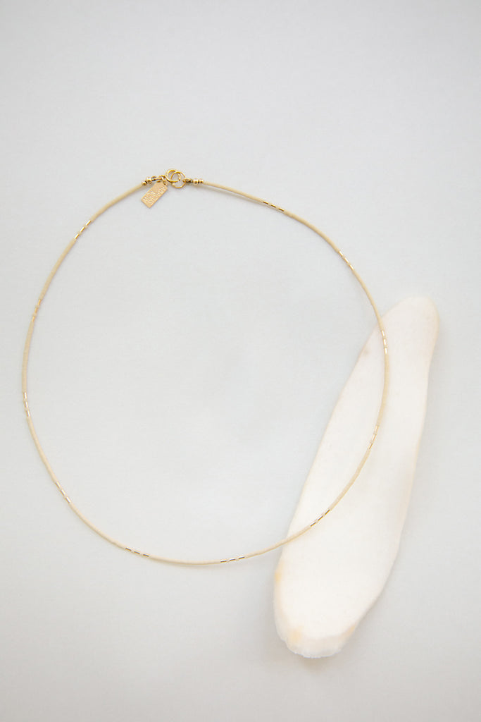 Carme Necklace in Oyster by Abacus Row Handmade Jewelry