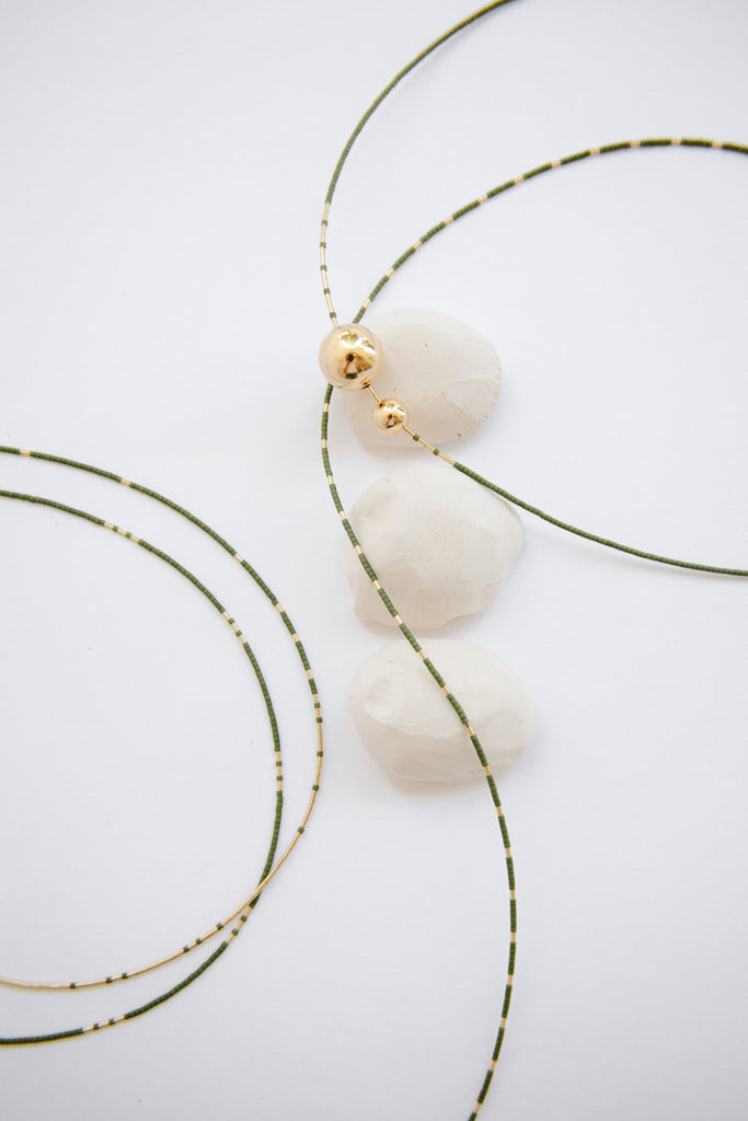 Arche Necklace in Palm by Abacus Row Handmade Jewelry