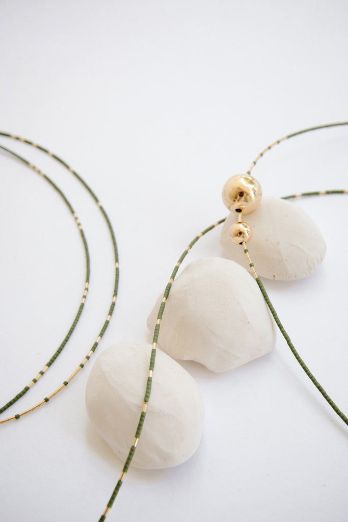Selene Collection Necklaces in Palm by Abacus Row Handmade Jewelry
