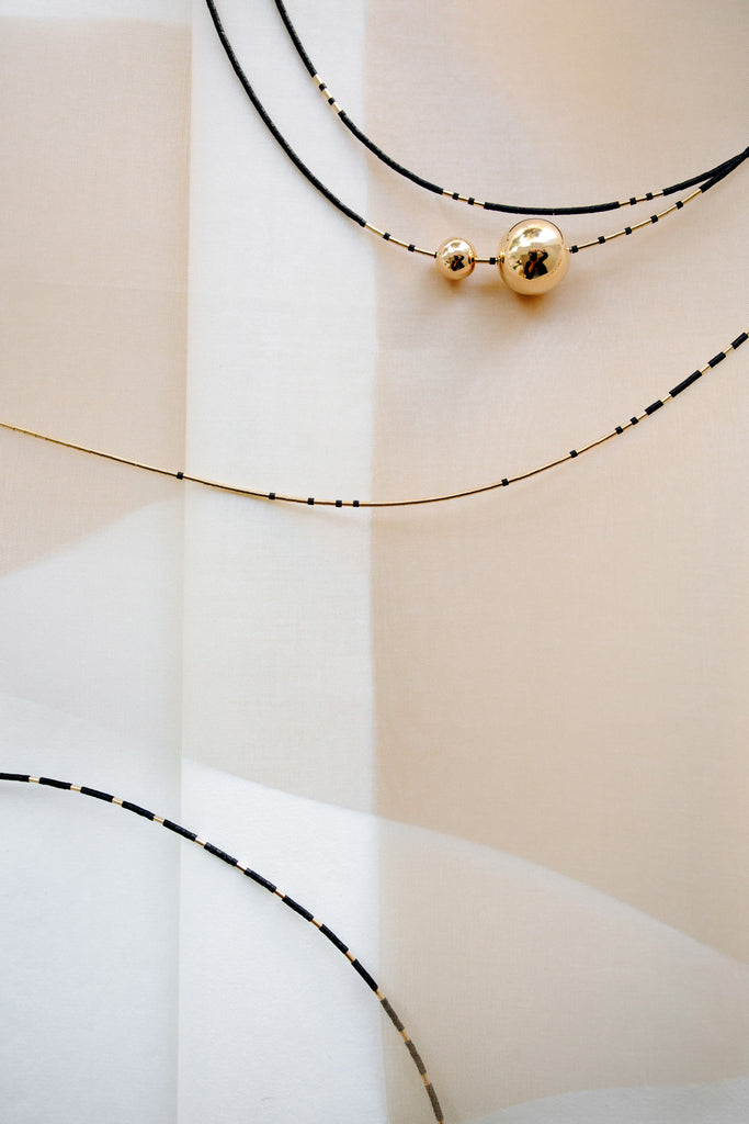 Selene Collection Necklaces in Ink by Abacus Row Handmade Jewelry