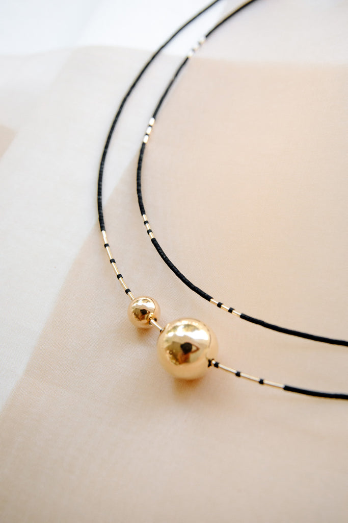Mimas Necklace in Ink by Abacus Row Handmade Jewelry