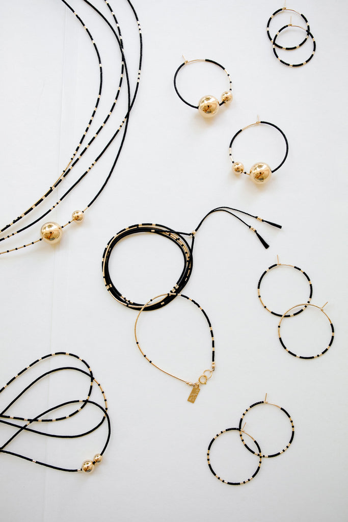 Selene Collection in Ink by Abacus Row Handmade Jewelry