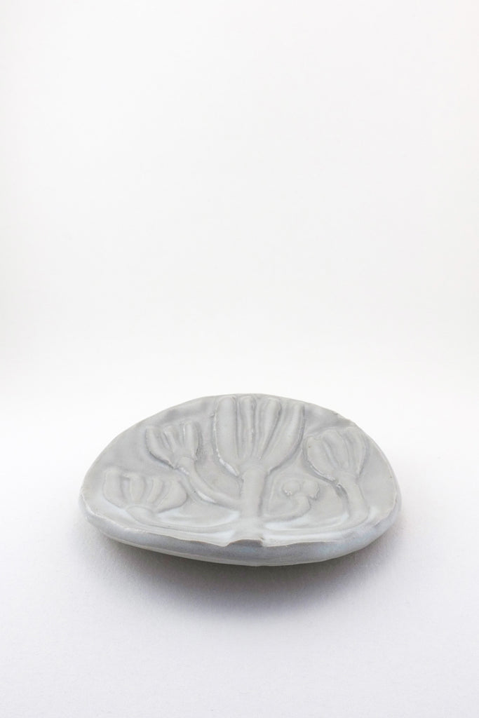 Medium Carved Floral Dish by Ariel Clute