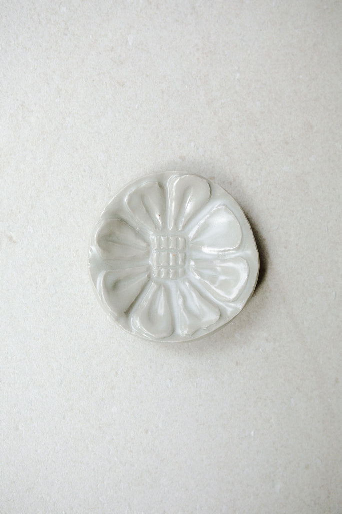 Small Carved Floral Dish by Ariel Clute