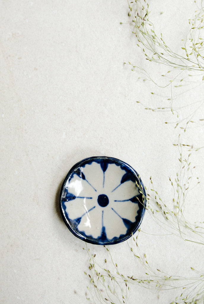 Extra Small Painted Floral Dish by Ariel Clute