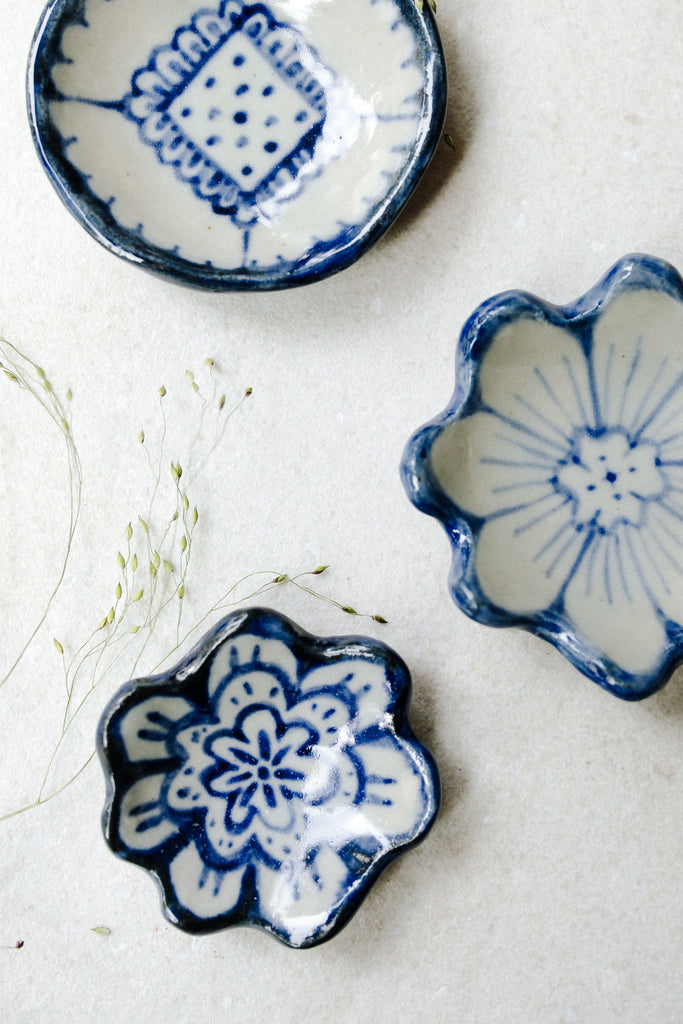 Extra Small Painted Floral Dishes by Ariel Clute