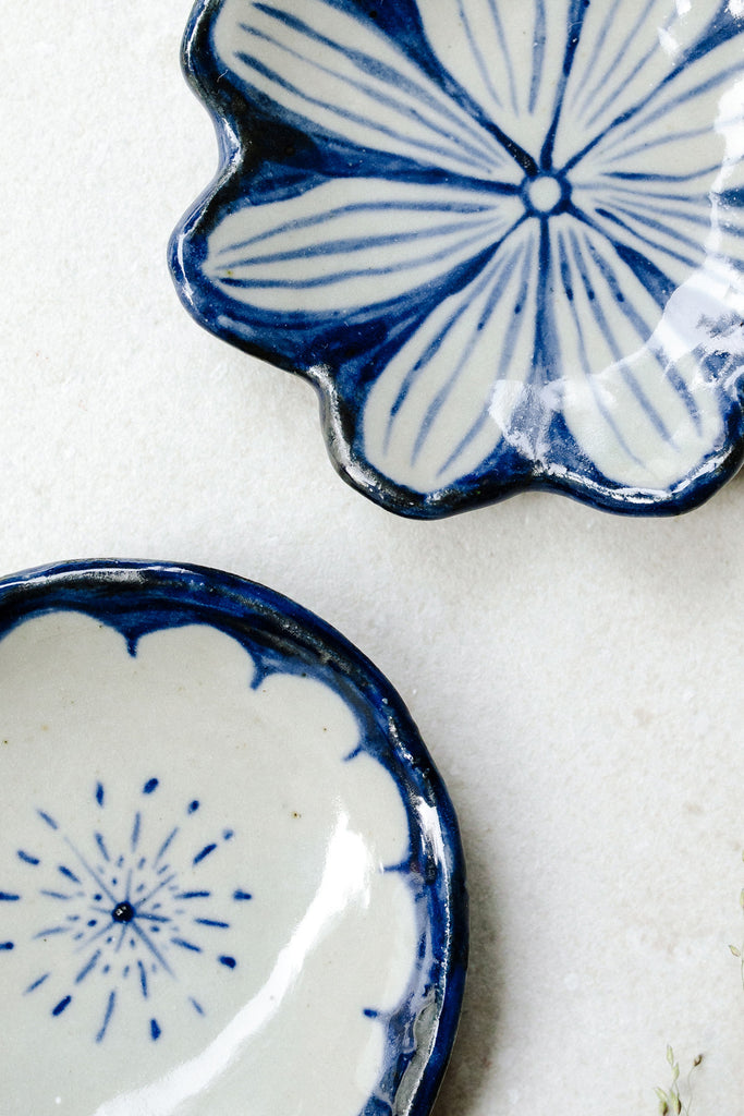 Medium Painted Floral Dishes by Ariel Clute