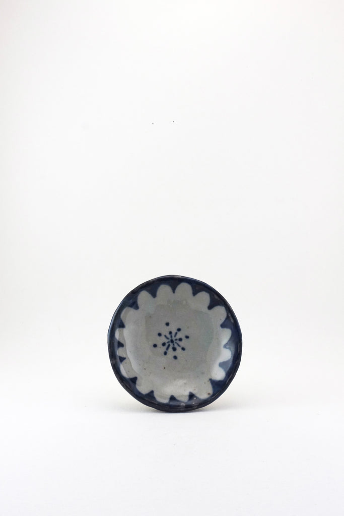 Small Painted Floral Dish by Ariel Clute