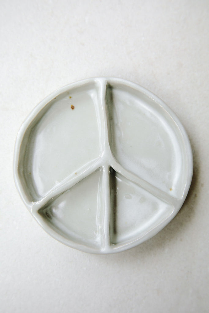 Medium Peace Plate by Ariel Clute