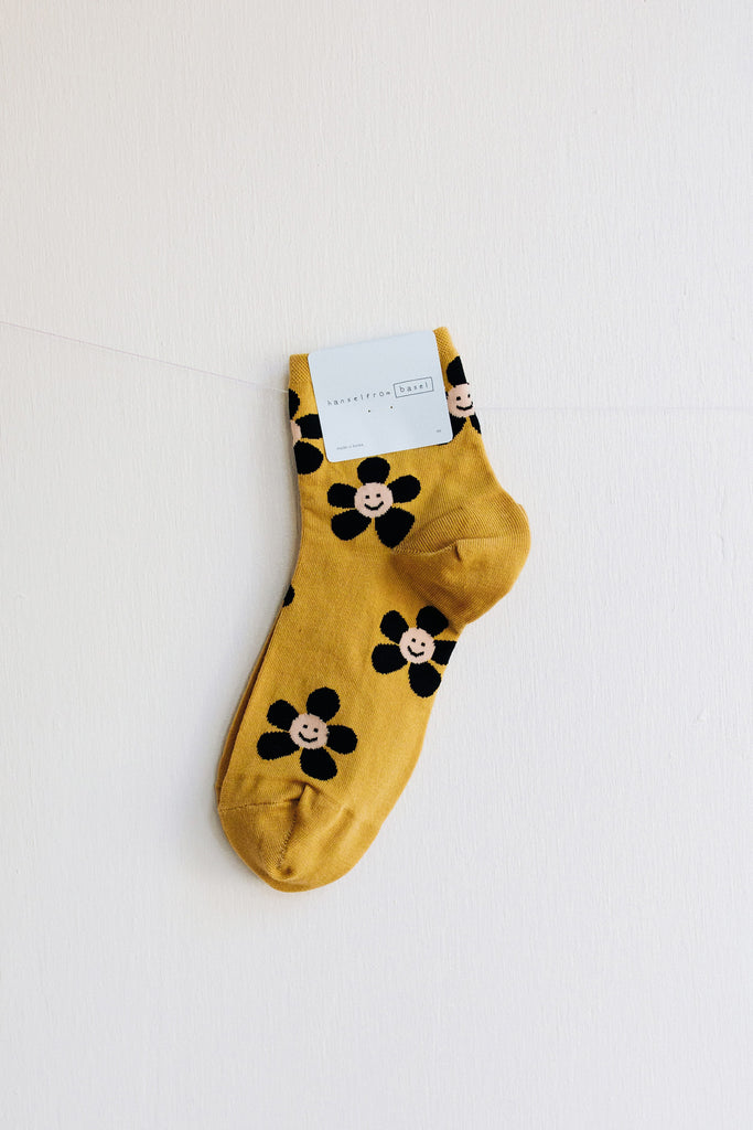 Hansel from Basel Lolo Short Crew Socks - Mustard