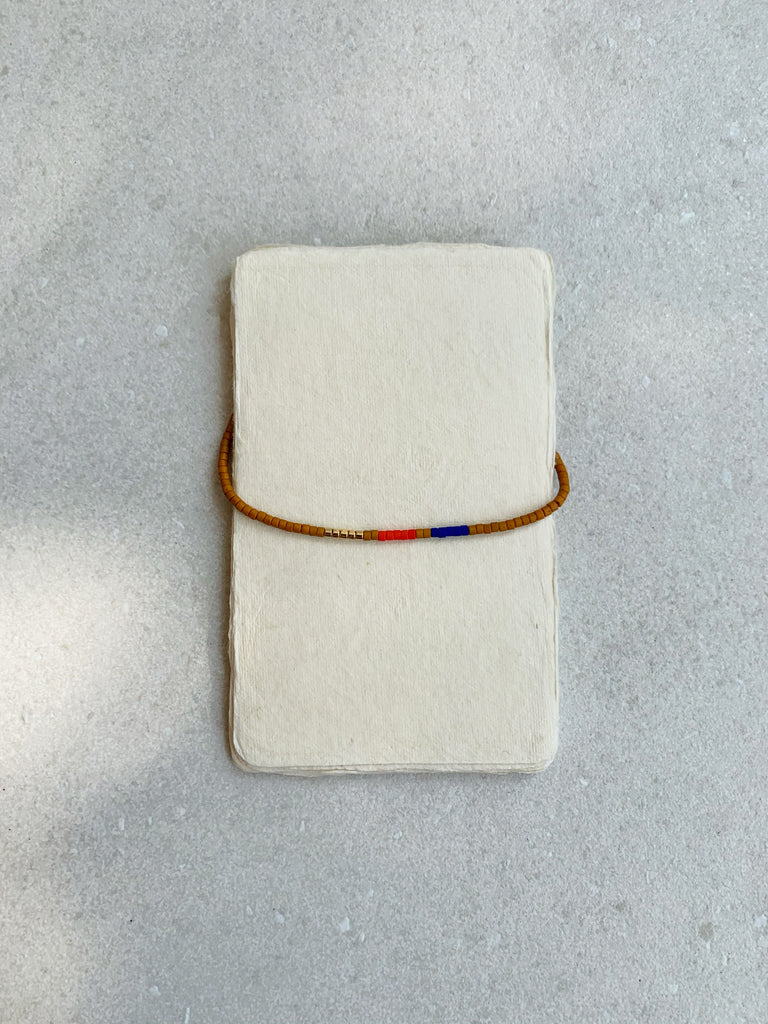 Miramar Bracelet, Red/Blue/Gold - Archive