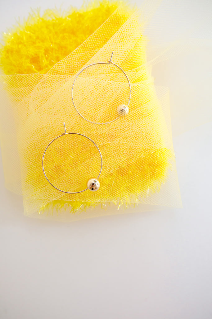 Mandarin Hoop Earrings - Year of the Ox Collection by Abacus Row