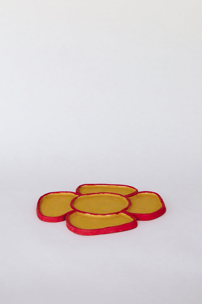 Apricot Flower Candy Tray by Minh Singer at Abacus Row