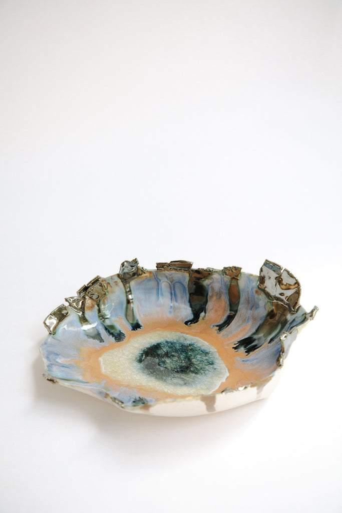 Medium Iceland Amorphous Blue Lagoon Bowl by Minh Singer